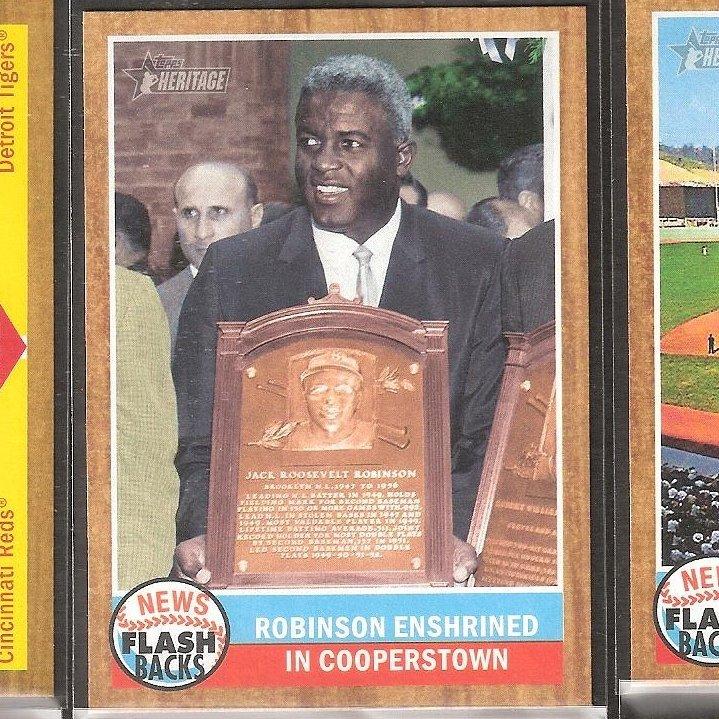 JACKIE ROBINSON 2011 Topps Heritage Flashbacks - Brooklyn Dodgers