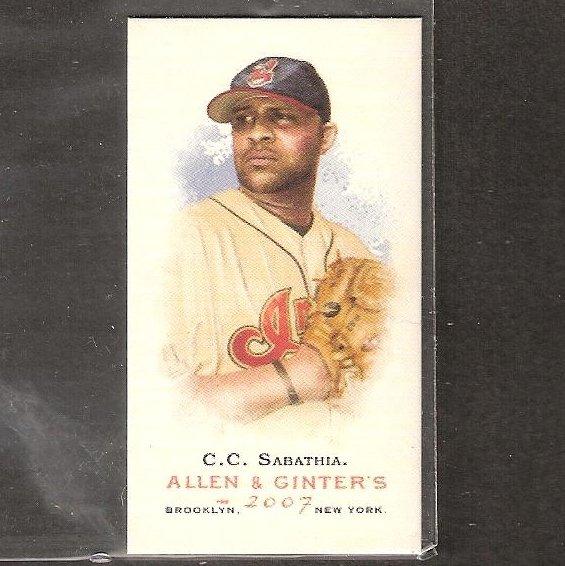 CC SABATHIA - 2007 Alan & Ginter's MINI - Cleveland Indians & NY Yankees