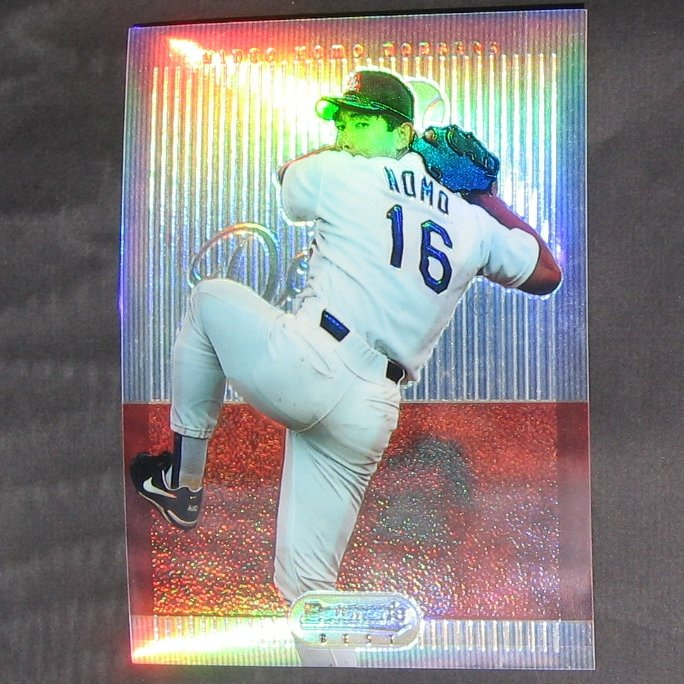 HIDEO NOMO - 1995 Bowman's Best Refractor JUMBO ROOKIE CARD - Chicago White Sox