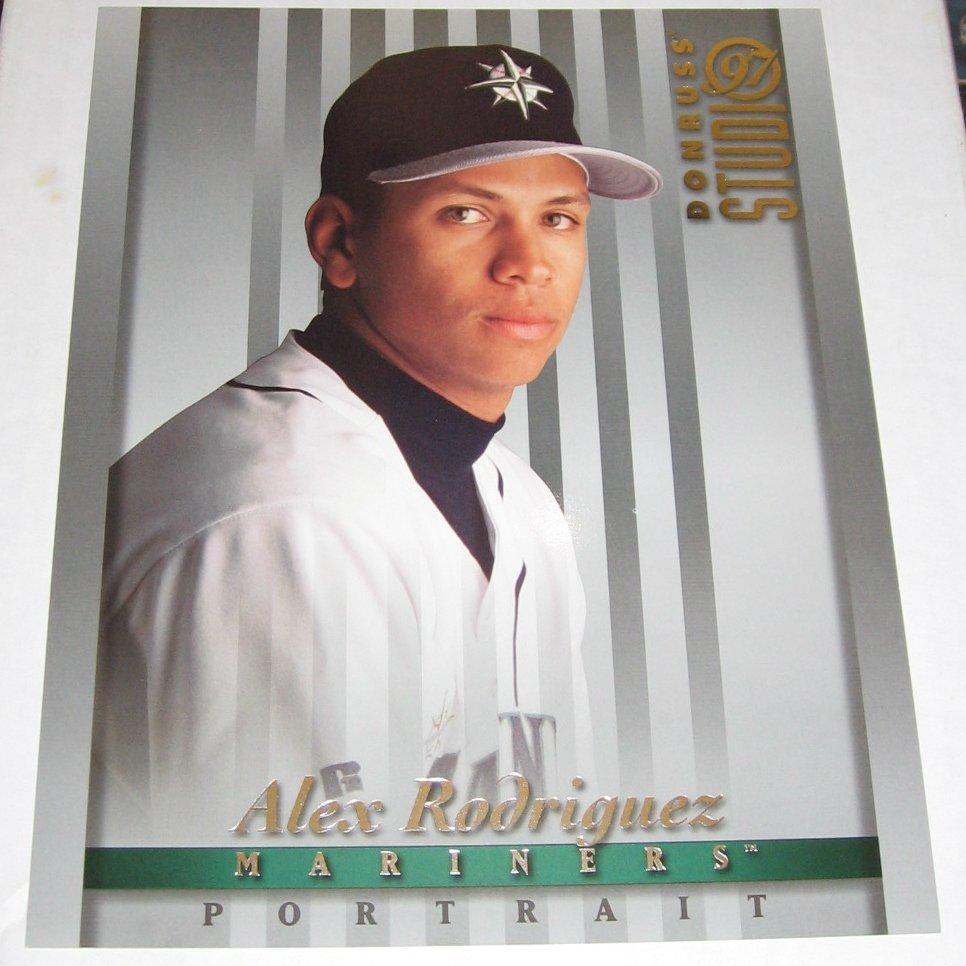 ALEX RODRIGUEZ - 1997 Studio 8x10 Portrait - Mariners & Yankees