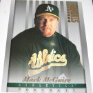 MARK McGWIRE - 1997 Studio 8x10 Portrait - Oakland A's & St. Louis Cardinals