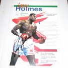 LARRY HOLMES - Autograph Sports Advisory Board SCORECARD Publication
