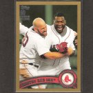 RED SOX TEAM CARD - 2011 Topps Gold - Serial #1686/2011