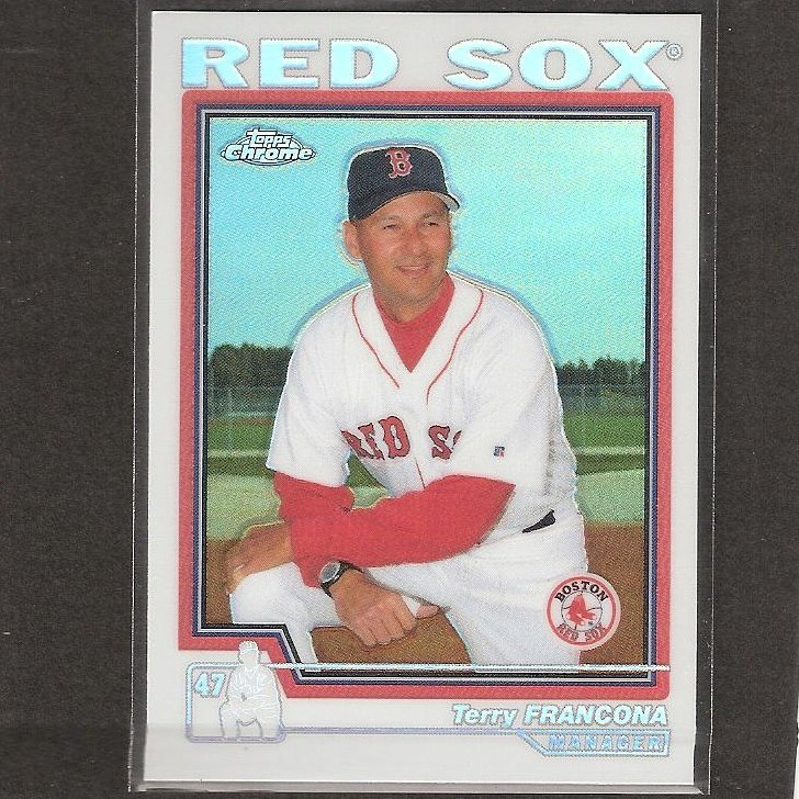 TERRY FRANCONA- 2003 Topps Chrome REFRACTOR - Boston Red Sox
