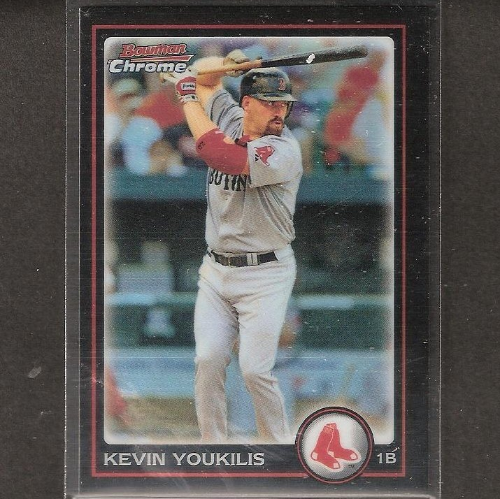 KEVIN YOUKILIS - 2010 Bowman Chrome REFRACTOR - Boston Red Sox