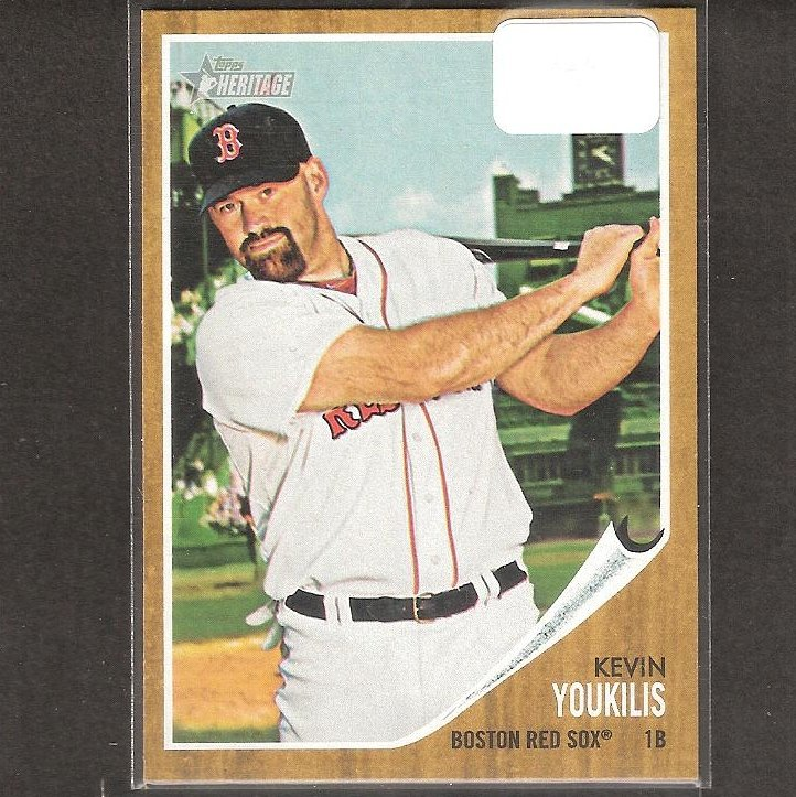 KEVIN YOUKILIS - 2011 Topps Heritage SHORT PRINT - Boston Red Sox
