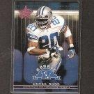 DEREK ROSS 2002 Leaf Rookies & Stars Short Print RC - Cowboys & Ohio State Buckeyes