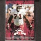 EDDIE FREEMAN 2002 Leaf Rookies & Stars Short Print RC - Chiefs & Alabama-Birmingham