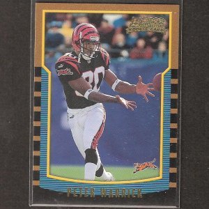 PETER WARRICK 2000 Bowman ROOKIE - Bengals & Florida State Seminoles