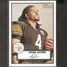 OMAR JACOBS 2006 Topps Heritage Red Back Rookie - Steelers & Bowling Green