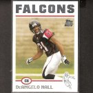 DeANGELO HALL 2004 Topps ROOKIE - Falcons & Virginia Tech Hokies