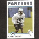 CHRIS GAMBLE 2004 Topps ROOKIE - Panthers & Ohio State Buckeyes