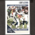 LEON WASHINGTON 2011 Score Glossy - Seahawks & Florida State Seminoles