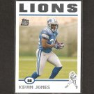 KEVIN JONES 2004 Topps ROOKIE - Lions & Virginia Tech Hokies