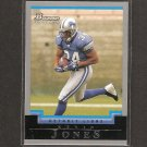 KEVIN JONES 2004 Bowman ROOKIE - Lions & Virginia Tech Hokies