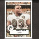 KEVIN CARTER - 2006 Topps Heritage Short Print - Dolphins & Florida Gators