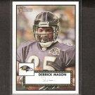 DERRICK MASON - 2006 Topps Heritage Short Print - Ravens & Michigan State Spartans