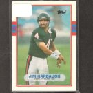 JIM HARBAUGH - 1989 Topps Traded ROOKIE CARD - Bears & Michigan Wolverines