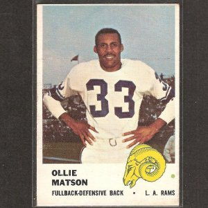 OLLIE MATSON - 1961 Fleer - Rams & San Francisco