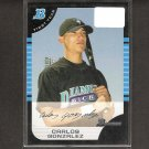 CARLOS GONZALEZ - 2005 Bowman Rookie Card - Colorado Rockies