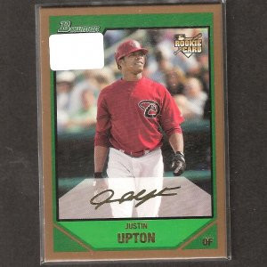 JUSTIN UPTON - 2007 Bowman Draft Gold Rookie Card - Diamondbacks