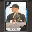 JONATHAN SANCHEZ - 2005 Bowman Rookie Card - San Francisco Giants
