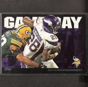 ADRIAN PETERSON - 2011 Topps Gameday - Vikings & Oklahoma Sooners