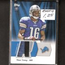 TITUS YOUNG - 2011 Topps Rookie Patch Player-Worn 3-Color Jersey Relic - Lions & Boise State