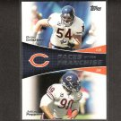 BRIAN URLACHER & JULIUS PEPPERS 2011 Topps Faces of the Franchise - Chicago Bears