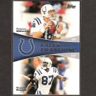 PEYTON MANNING & REGGIE WAYNE 2011 Topps Faces of the Franchise - Indianapolis Colts