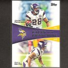 ADRIAN PETERSON & PERCY HARVIN 2011 Topps Faces of the Franchise - Minnesota Vikings