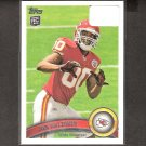 JON BALDWIN 2011 Topps Rookie Card - Kansas City Chiefs & Pitt Panthers