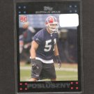 PAUL POSLUSZNY 2007 Topps Rookie Card - Bills & Penn State Nittany Lions