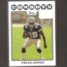FELIX JONES 2008 Topps Rookie Card - Cowboys & Arkansas Razorbacks
