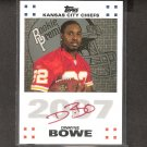 DWAYNE BOWE 2007 Topps Rookie Premiere Autograph RED - Browns, Chiefs & LSU Tigers