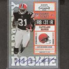 MONTARIO HARDESTY - 2010 Playoff Contenders Rookie Ticket - Browns & Tennessee Volunteers