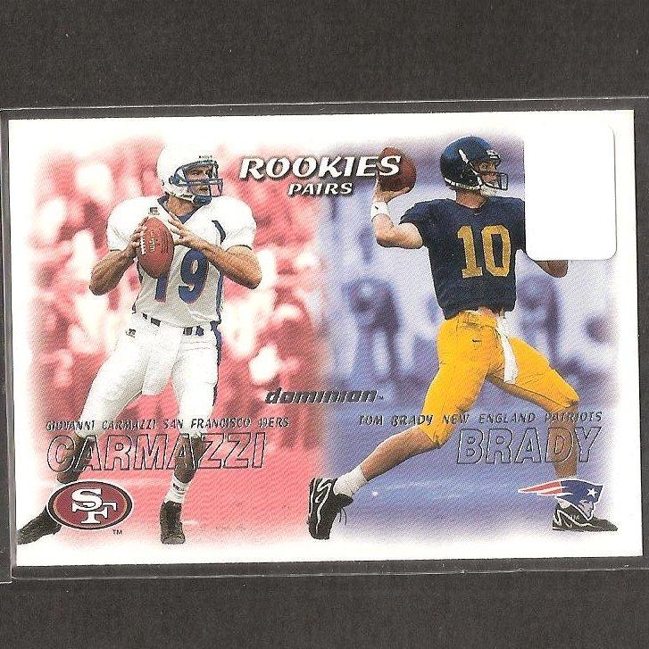 TOM BRADY - 2000 Skybox Dominion ROOKIE CARD - Patriots & Michigan Wolverines