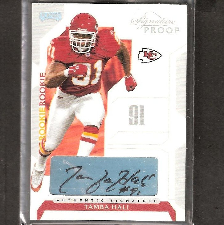 TAMBA HALI - 2006 Playoff Signature Proof Autograph ROOKIE - Chiefs & Penn State Nittany Lions