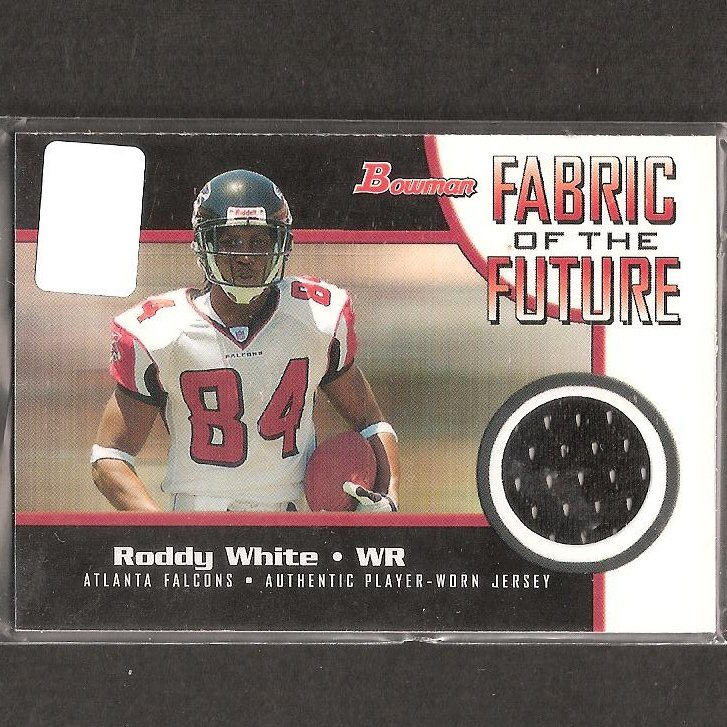 RODDY WHITE 2005 Bowman Fabric of the Future Jersey/Relic ROOKIE - Falcons & Alabama Birmingham