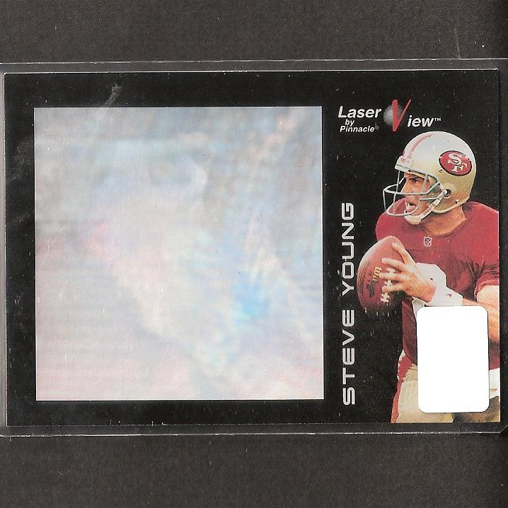 STEVE YOUNG - 1996 Pinnacle Laser View - 49ers & BYU