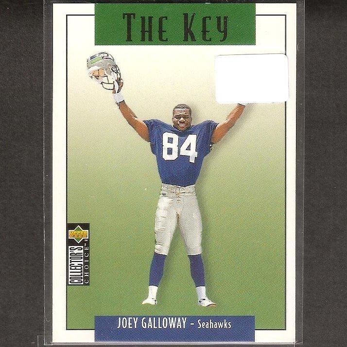 JOEY GALLOWAY - 1995 Collector's Choice The Key - Seahawks, Cowboys & Ohio State Buckeyes