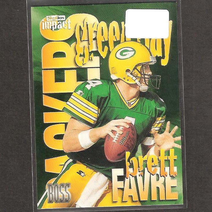 BRETT FAVRE - 1997 Skybox Impact BOSS - Packers, Vikings & Southern Miss