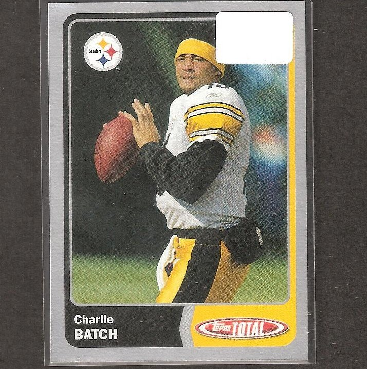 CHARLIE BATCH - 2003 Topps TOTAL Silver - Steelers, Lions & Eastern Michigan