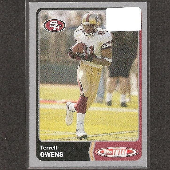 TERRELL OWENS - 2003 Topps TOTAL Silver - 49ers, Cowboys & Tennessee Chattanooga