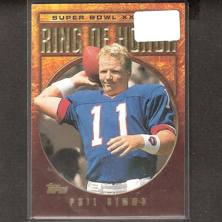 PHIL SIMMS - 2002 Topps Ring of Honor - NY Giants & Morehead State