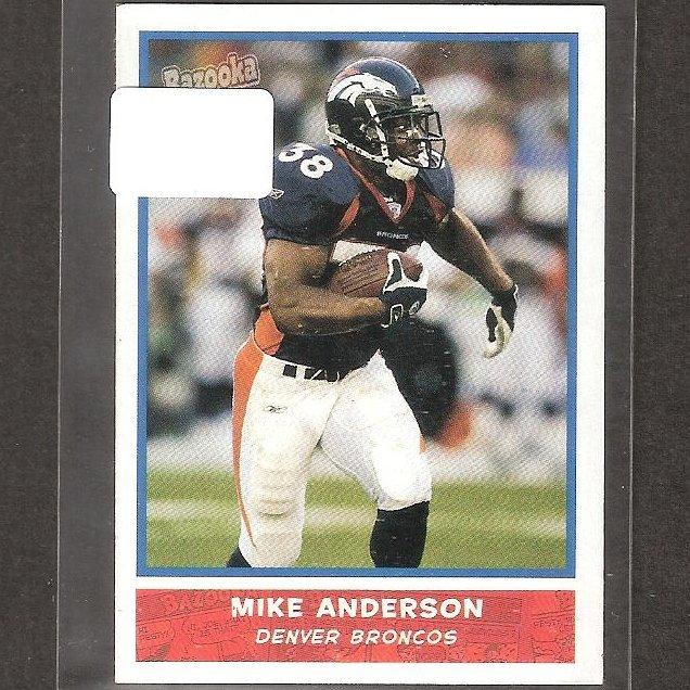 MIKE ANDERSON - 2004 Bazooka Mini- Broncos, Ravens & Utah Utes