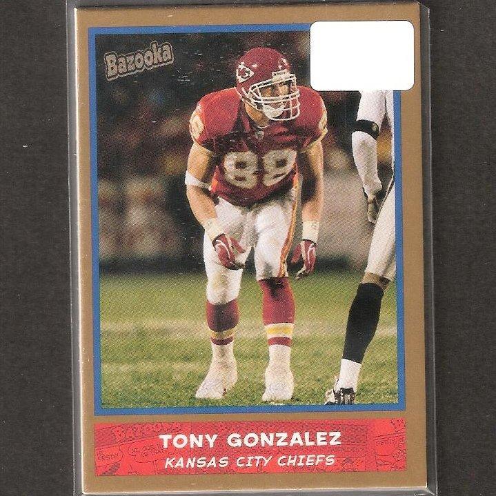 TONY GONZALEZ - 2004 Bazooka Gold - Chiefs, Falcons & Cal Golden Bears