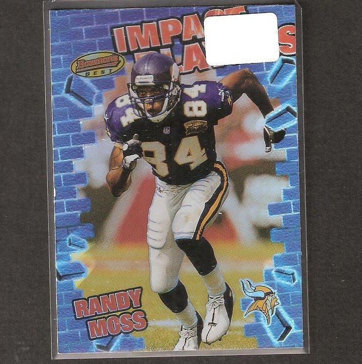 RANDY MOSS - 2001 Bowman's Best Impact Players- Vikings, Patriots & Marshall Thundering Herd