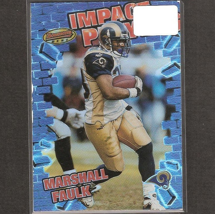 MARSHALL FAULK - 2001 Bowman's Best Impact Players- Rams, Colts & San Diego State Aztecs