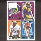 Sean Gilbert, Mark Fields, JJ Stokes Rookie - 1995 Upper Deck Collector's Choice Stick-Um